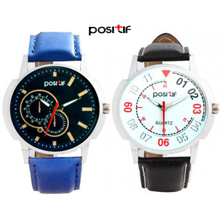 COMBO POSITIF Analog Round Casual Watche For Men W-05+06