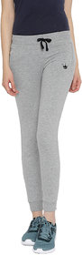 Red Rose Women's Solid Light Grey Yoga Track & Lounge Pants