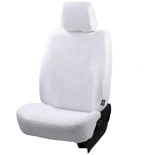 Autofurnish (TW-301) Maruti Swift Old (2005-08) Car Seat Covers Towel (White)