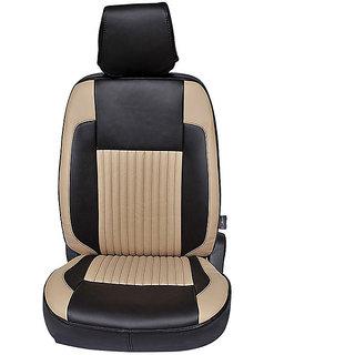 Autofurnish (CZ-109 Liberty Black) Mahindra Quanto 7S Leatherite Car Seat Covers