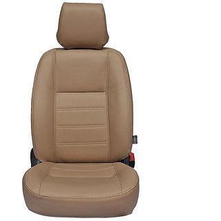 Autofurnish (CZ-104 Ice Beige) Honda Jazz Leatherite Car Seat Covers