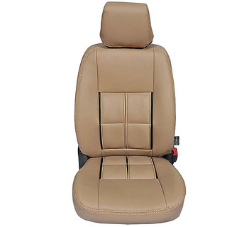 Autofurnish (CZ-111 Magicbox Beige) Maruti Omni (2005-14) Leatherite Car Seat Covers