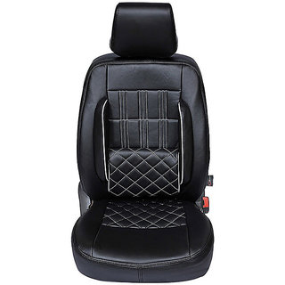 Autofurnish (CZ-118 Sicilia Black) Mahindra Scorpio (2008-14) Leatherite Car Seat Covers