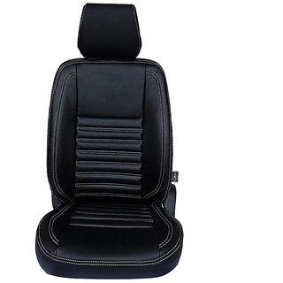 Autofurnish (CZ-114 Milano Black) Tata Safari Dicor 3.0L (2006-09) Leatherite Car Seat Covers