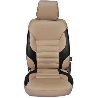 Autofurnish (CZ-121 Soul Beige) Mahindra Logan Leatherite Car Seat Covers