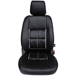 Autofurnish (CZ-112 Magicbox Black) Maruti Alto 2000-12 Leatherite Car Seat Covers