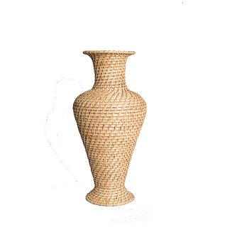Cane Handmade Decorative Huge King Sized Flower Pot Vase