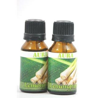 AuraDecor 100 Pure LemonGrass Undiluted Aromatherapy Oil (15ml Each, Buy 1 Get 1 Free)