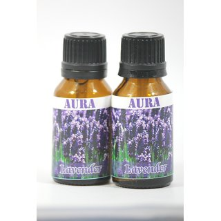 AuraDecor 100 Pure Lavender Undiluted Aromatherapy Oil (15ml Each, Buy 1 Get 1 Free)