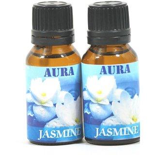 AuraDecor 100 Pure Jasmine Undiluted Aromatherapy Oil (15ml Each, Buy 1 Get 1 Free)