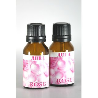 AuraDecor 100 Pure Rose Undiluted Aromatherapy Oil (15ml Each, Buy 1 Get 1 Free)
