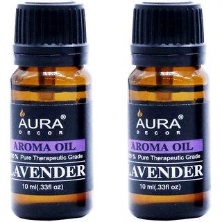 AuraDecor Lavender Aromatherapy Oil, 10ml (Buy 1 Get 1 Free)