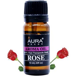 AuraDecor Rose Aromatherapy Oil, 10ml