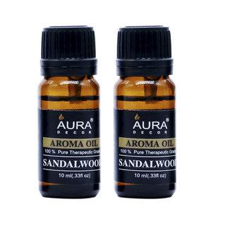 AuraDecor Sandalwood Aromatherapy Oil, 10ml (Buy 1 Get 1 Free)