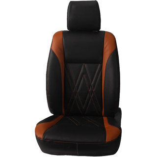 Autofurnish (CZ-130 Spike Black) Toyota Etios (2010-14) Leatherite Car Seat Covers