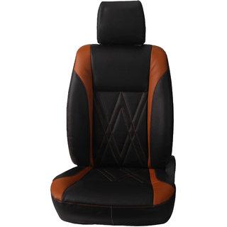 Autofurnish (CZ-130 Spike Black) Toyota Fortuner Leatherite Car Seat Covers
