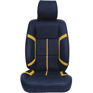 Autofurnish (CZ-129 Citron Black) Nissan Micra Leatherite Car Seat Covers