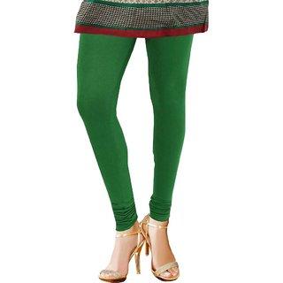 TBZ Cotton Lycra Women's Leggings -Green