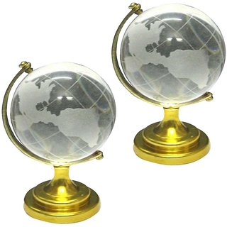 Combo of Two Feng Shui Crystal Globes For Success