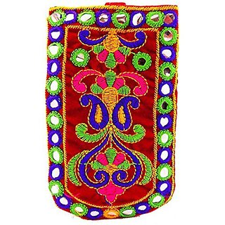 b0a0e74c09f Bagaholics Ethnic Raw Silk Saree Clutch Mobile Pouch Waist Clip Ladies  Purse Gift For Women