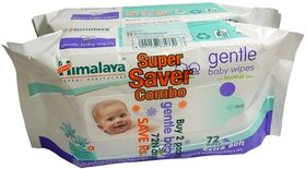 Himalaya Gentle Baby Wipes 72s  Pack of 2