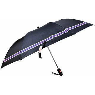 Fendo 2 fold black silver with colorfull border umbrella for men