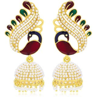Jewels Gold Party Wear  Wedding Latest Fancy Jhumki Earring Set For Women  Girls