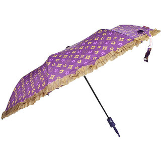 murano 3 fold auto open LV print desing beautiful Umbrella