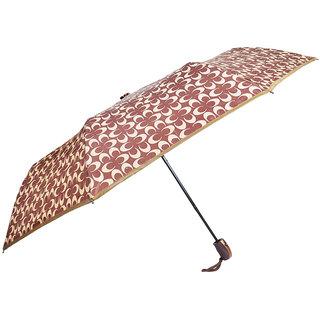 murano auto open 3 fold rubber finished handle umbrella