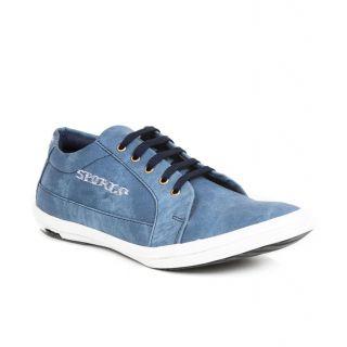 Aadi Men's Blue Lace-up Sneaker Shoes