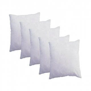 Azaani white polyester set of 5 cushion filler