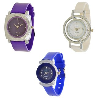 S4 sales Designer Watch Combo(3 pc) For Girls  womens