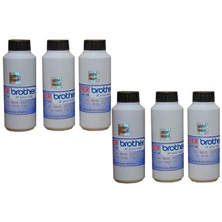 Galaxy Toner For Brother-7055 7060 7065 7360 1111 1611 2520 2541 - Pack of 6 (Black)