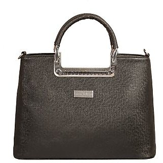 Louise Belgium Black Plain Handbag