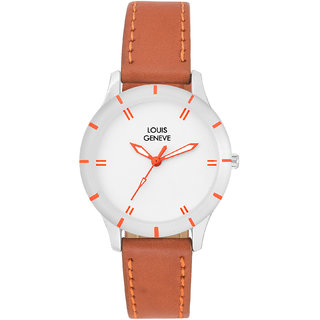 Louis Geneve LG-LW-BR-WHITE-55 Stylish Analog Watch Women