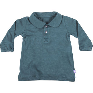 Hugabug Navy Collared Top in Organic Cotton