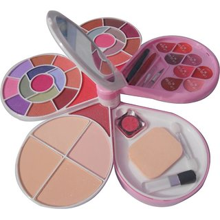 ADS ADS-26Eyeshadow3Blusher4CompactPowder8LipColor1Puff1MirrorMaleupkit  (Pack of 1)