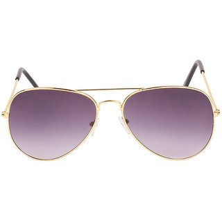 Louis Geneve Stylish  Fashionable Golden Metal Frame with wine Shade Lens Wayfarer Sunglasses