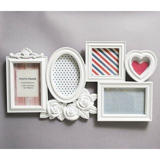 Classic White Collage of 5 Picture Frames