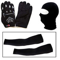 MP  Bike Gloves And Balaclava Face Mask And Arm Sleeves