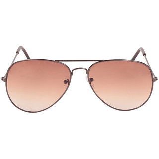 Louis Geneve Stylish  Fashionable copper Metal Frame with Brown Shade Lens Wayfarer Sunglasses