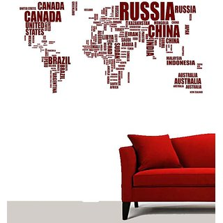 Wall stickers wall decal wall stickers wall sticker wall creative text world map wall sticker w x h 180 x 90 gumiabroncs Choice Image