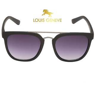 Louis Geneve Stylish  Fashionable Angular Men's Sunglasses LG-SM-112-BM-BLACK