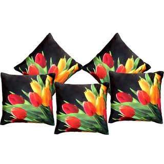 AS Non Fabric Set of 5 3D Printed Attactive Design Digital Cushion covers