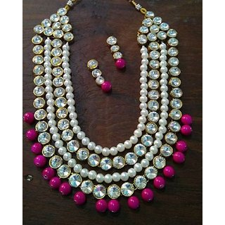 Necklace With Drop Earring For Women