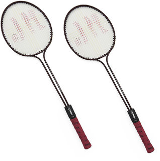 Pack of 2 Roxon Polo Double Shaft Badminton Racquet (Assorted Colors)