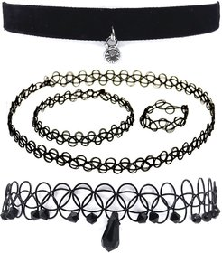 GoldNera Black Plastic Tattoo Necklace For Women