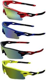 Zyaden Combo of 4 Sport Sunglasses