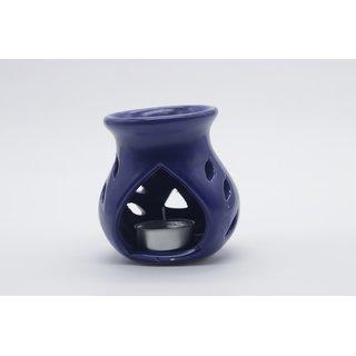 AuraDecor Blue Ceramic Aroma Oil Burner