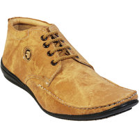 NAMAH Men'S Beige Color Suede Leather Casual Shoes